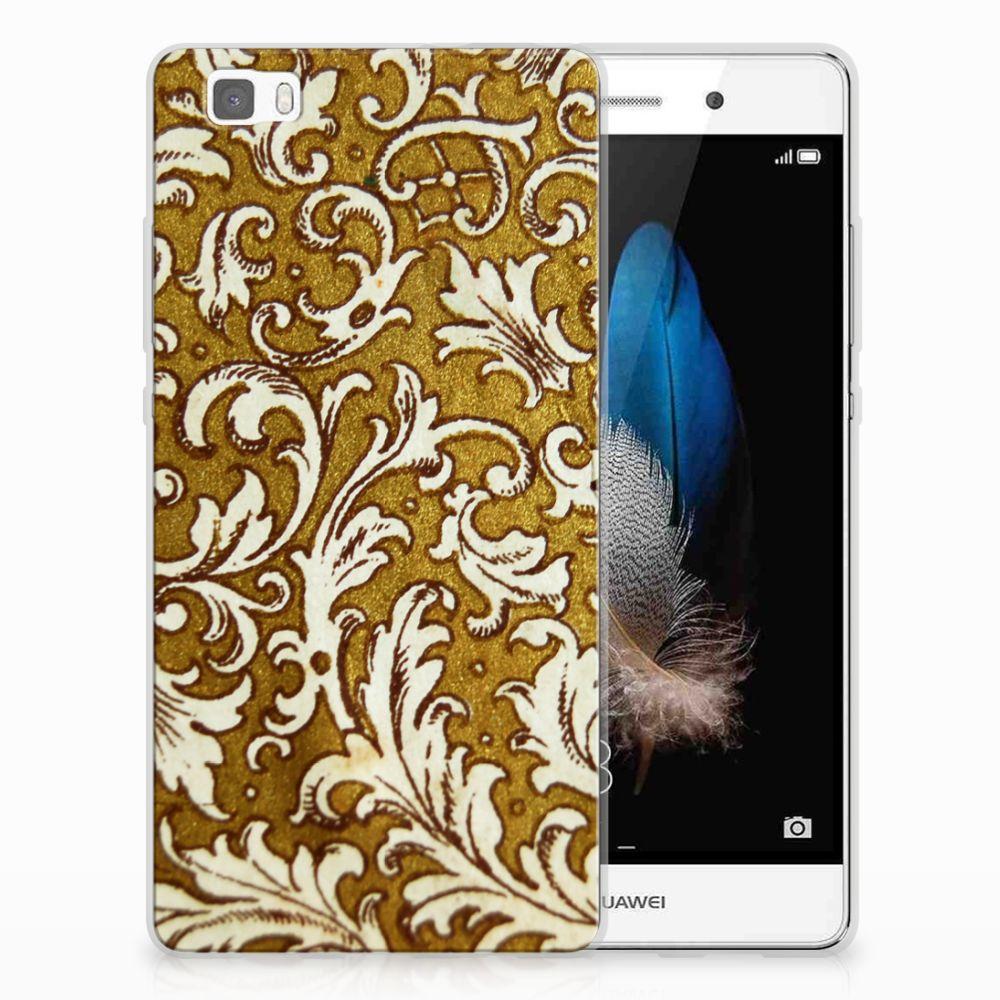 Siliconen Hoesje Huawei Ascend P8 Lite Barok Goud