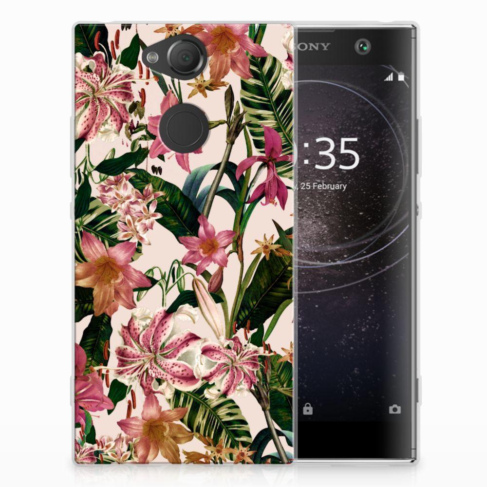 Sony Xperia XA2 Uniek TPU Hoesje Flowers