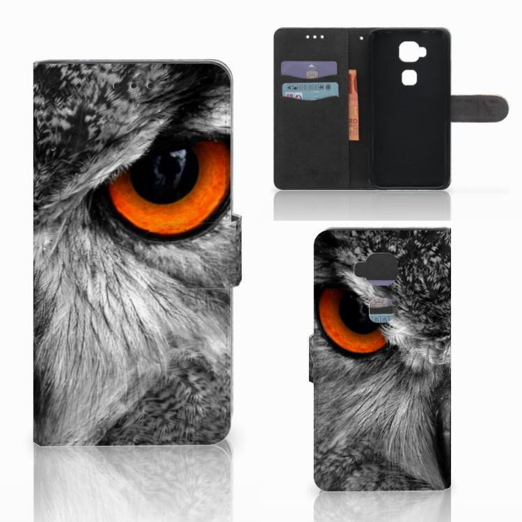 Huawei G8 Telefoonhoesje met Pasjes Uil