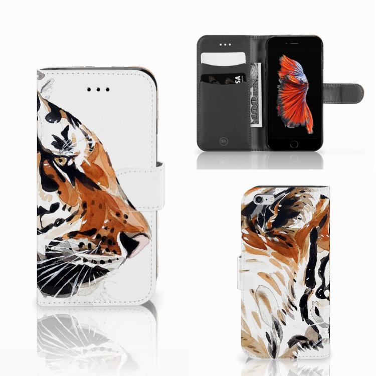 Hoesje Apple iPhone 6 | 6s Watercolor Tiger