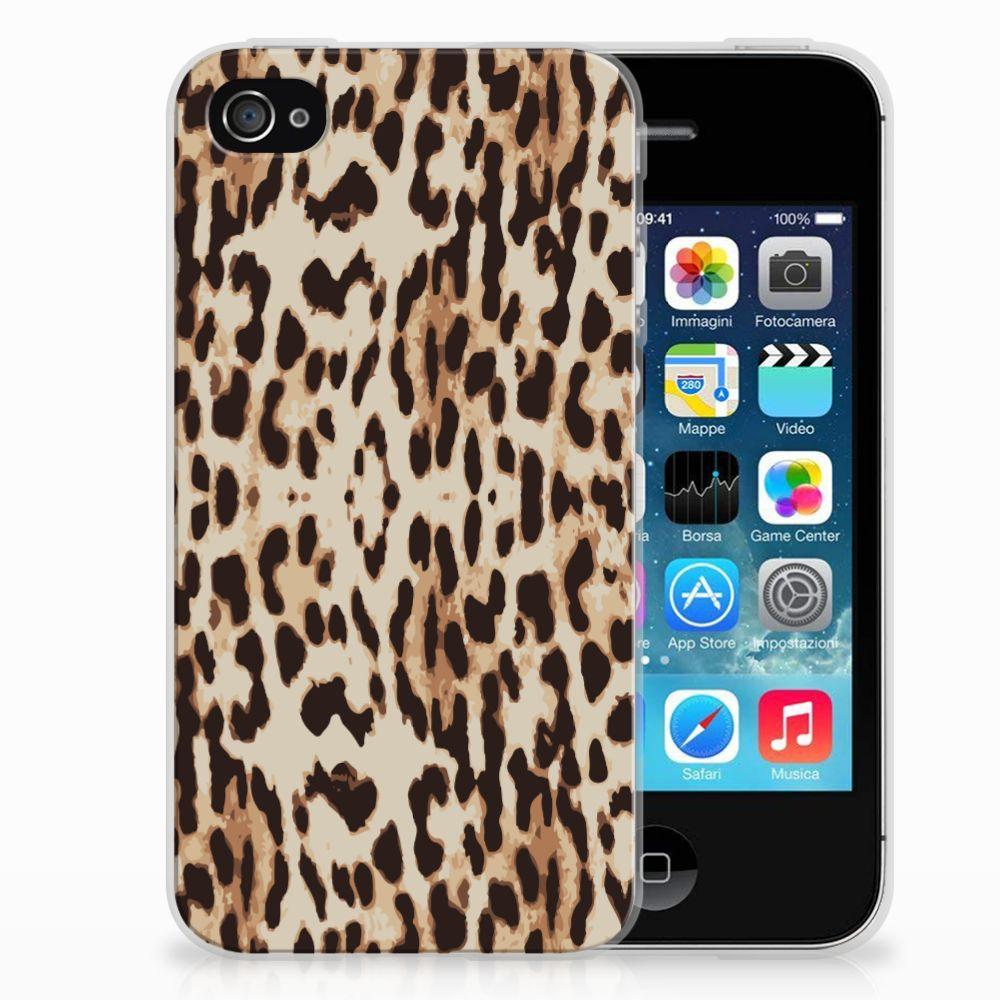 Apple iPhone 4 | 4s Uniek TPU Hoesje Leopard