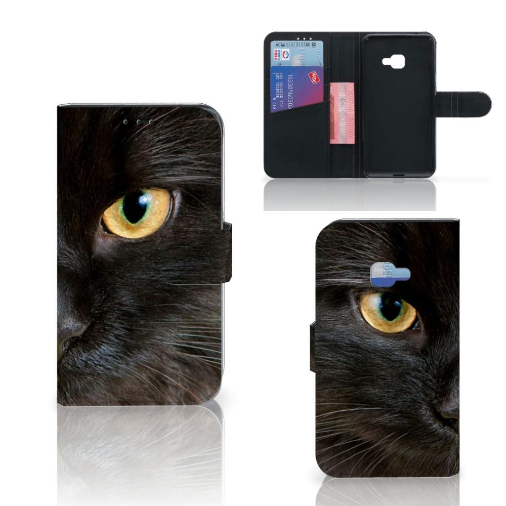 Samsung Galaxy Xcover 4 | Xcover 4s Telefoonhoesje met Pasjes Zwarte Kat