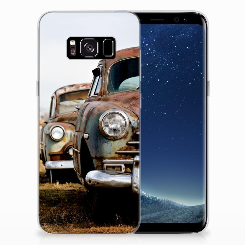 Samsung Galaxy S8 Siliconen Hoesje met foto Vintage Auto