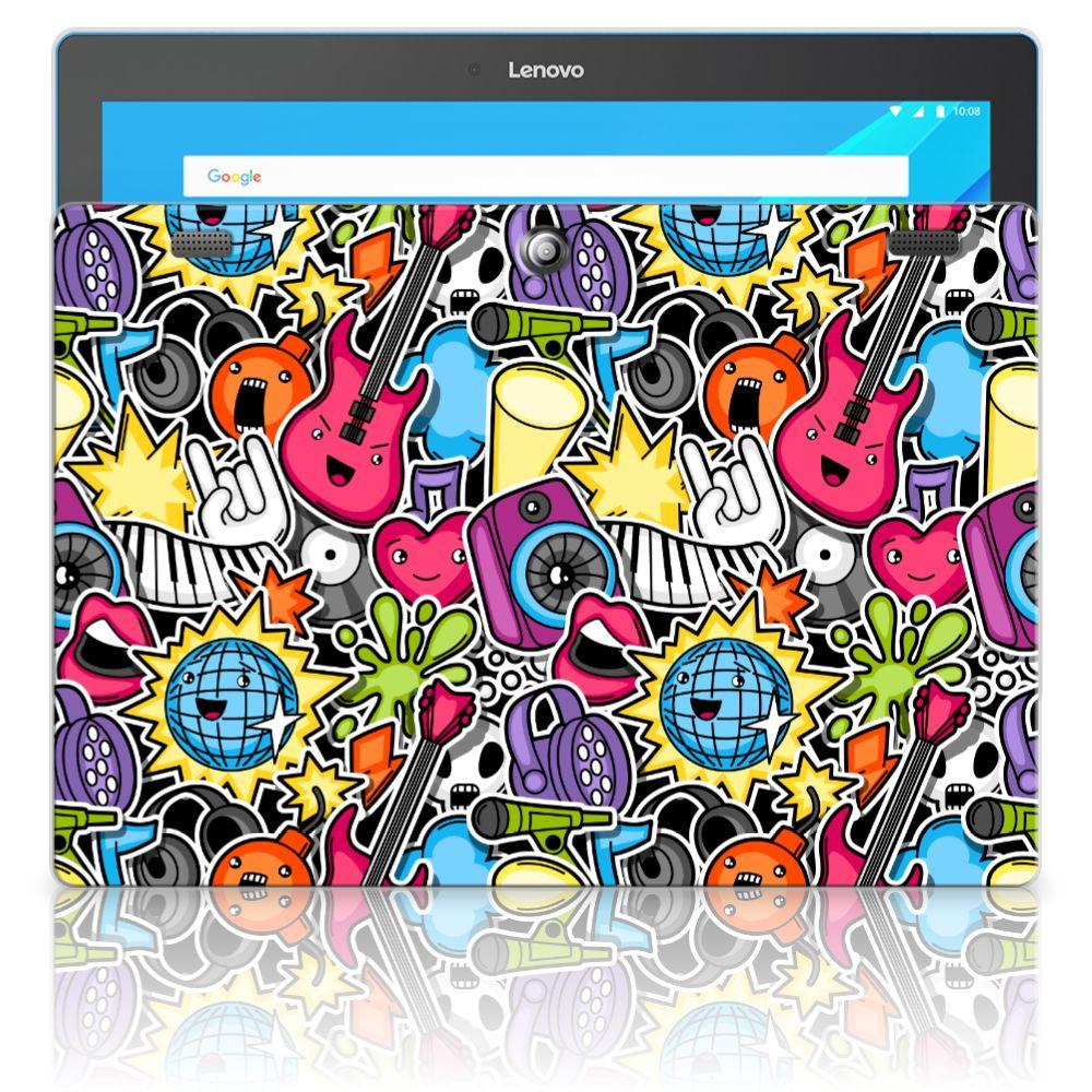Lenovo Tab 10 | Tab 2 A10-30 Leuke Siliconen Hoes Punk Rock