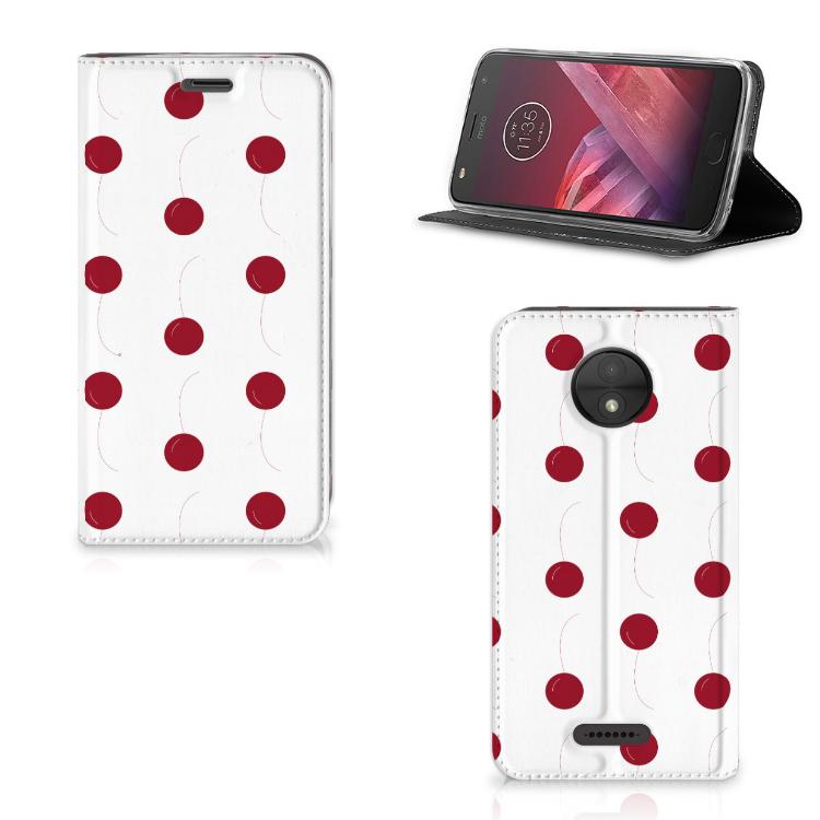 Motorola Moto C Flip Style Cover Cherries