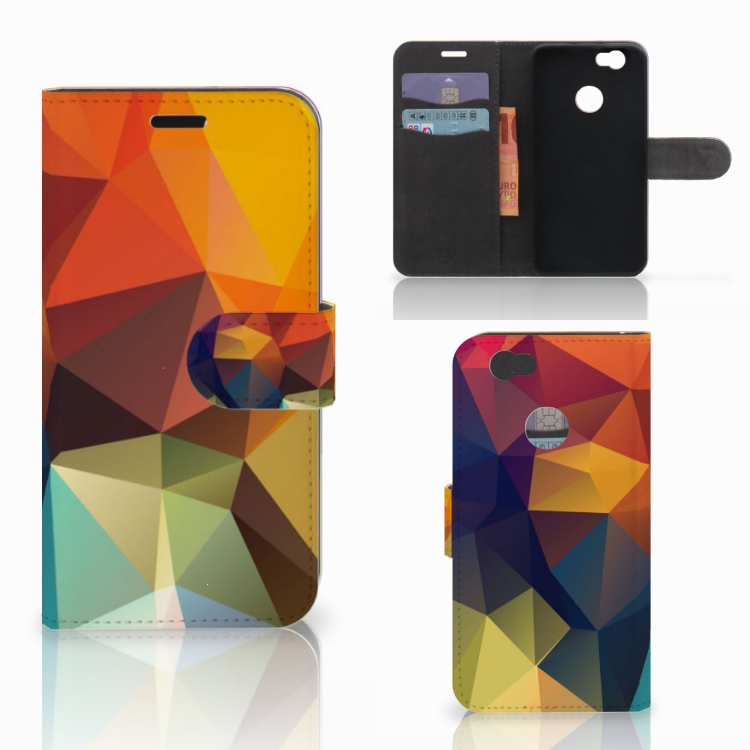 Huawei Nova Bookcase Polygon Color