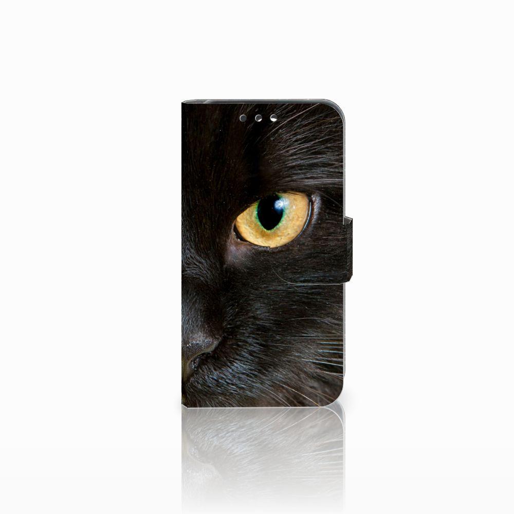 Huawei Y5 Y560 Telefoonhoesje met Pasjes Zwarte Kat
