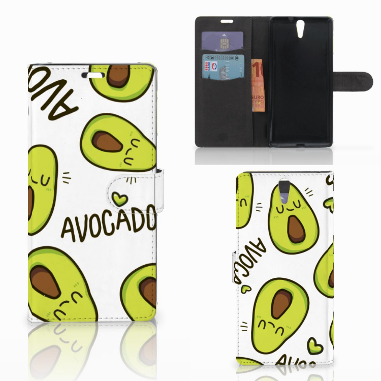 Sony Xperia C5 Ultra Leuke Hoesje Avocado Singing