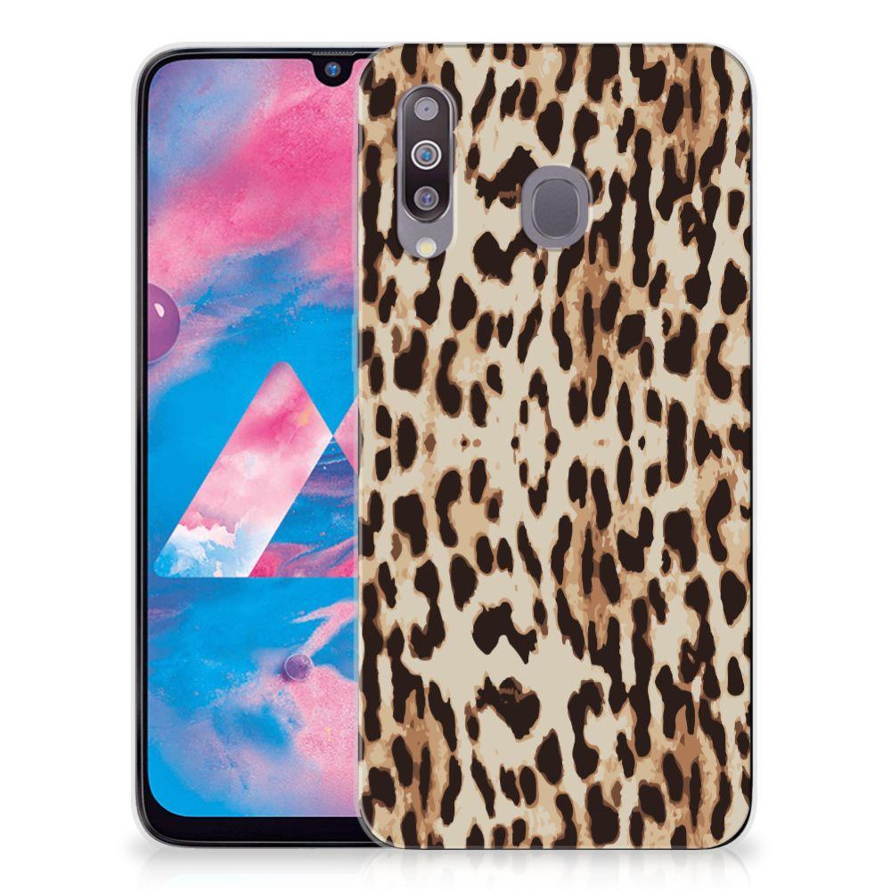 Samsung Galaxy M30 TPU Hoesje Leopard