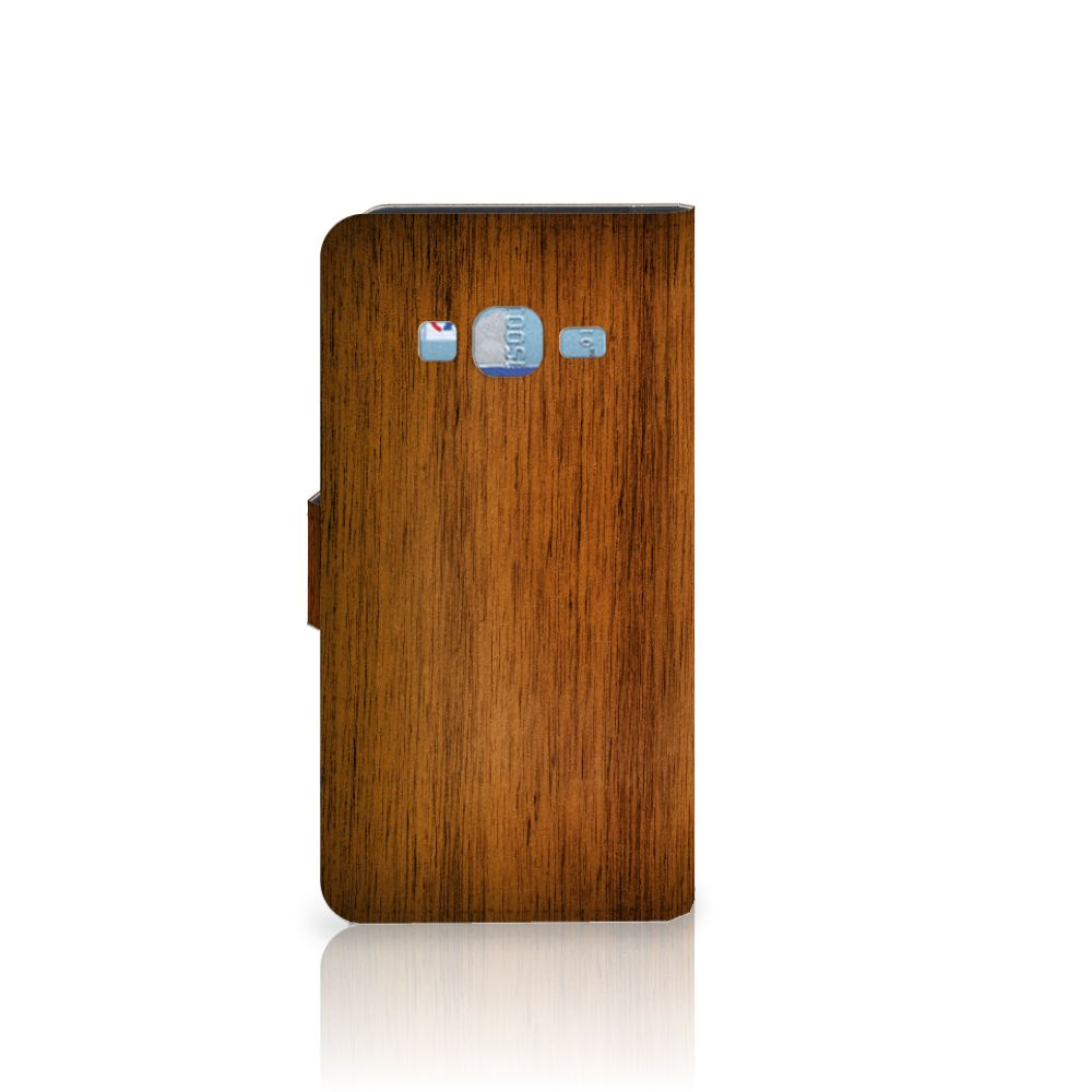 Samsung Galaxy J3 2016 Book Style Case Donker Hout