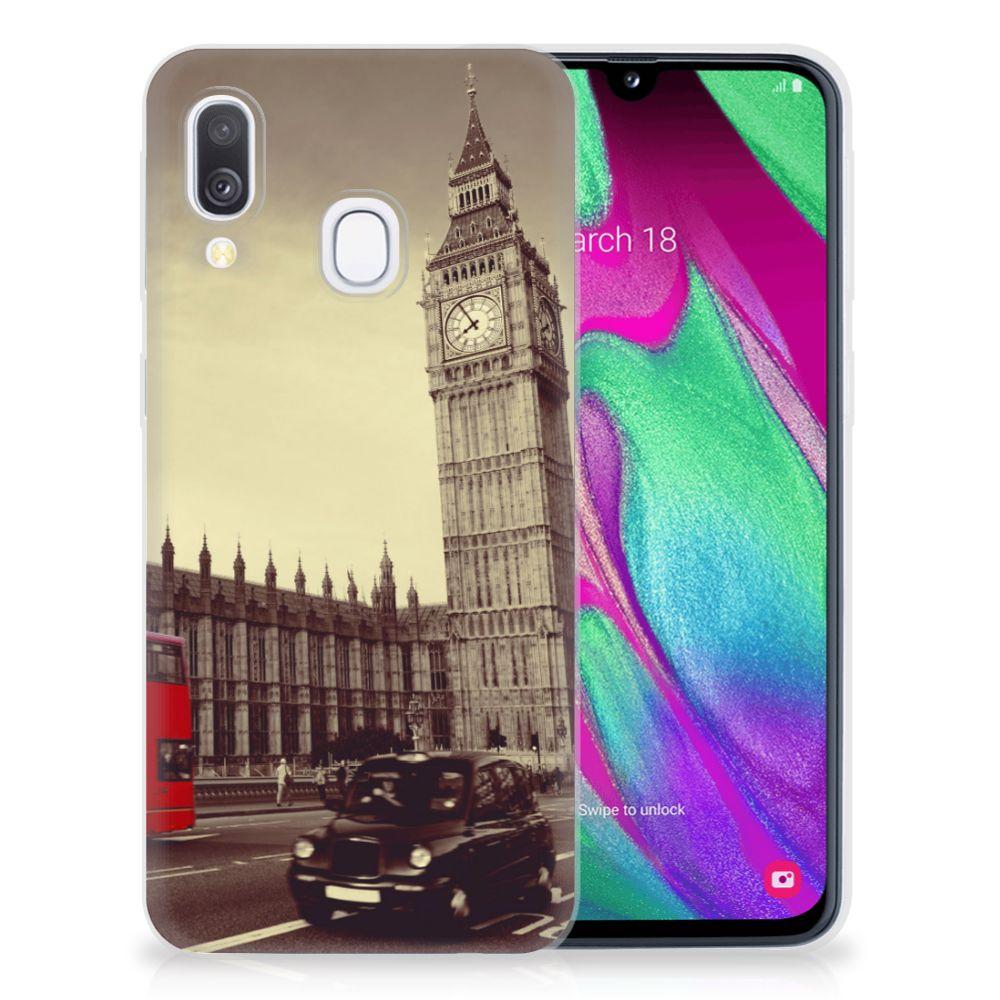 Samsung Galaxy A40 Siliconen Back Cover Londen