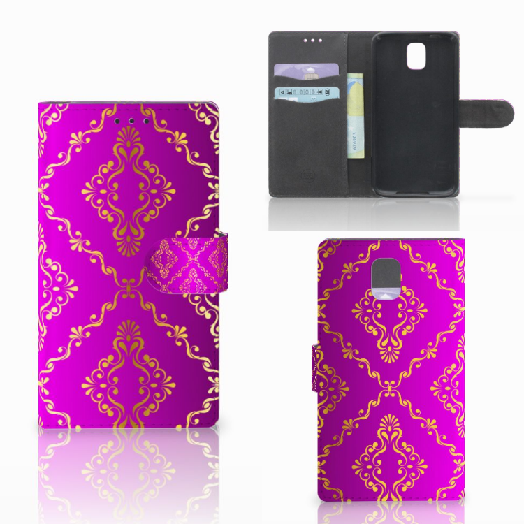Wallet Case Samsung Galaxy Note 3 Barok Roze