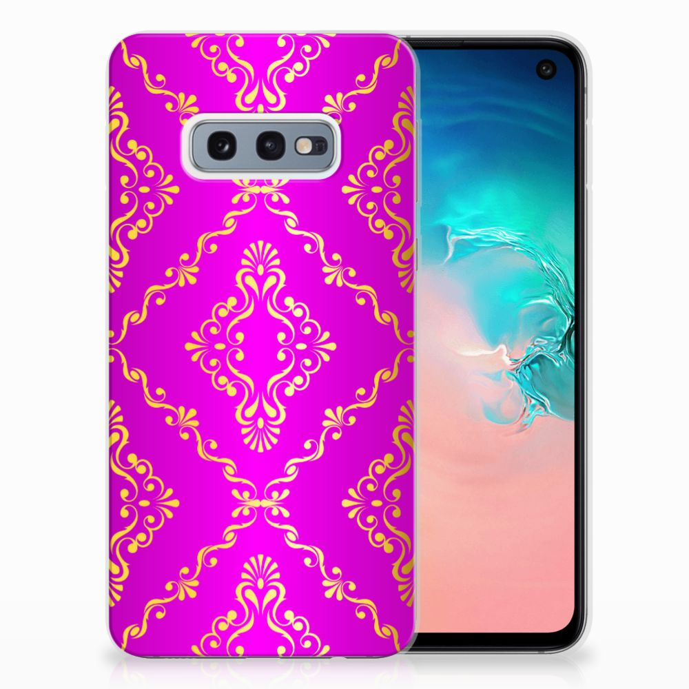 Samsung Galaxy S10e Uniek TPU Hoesje Barok Roze