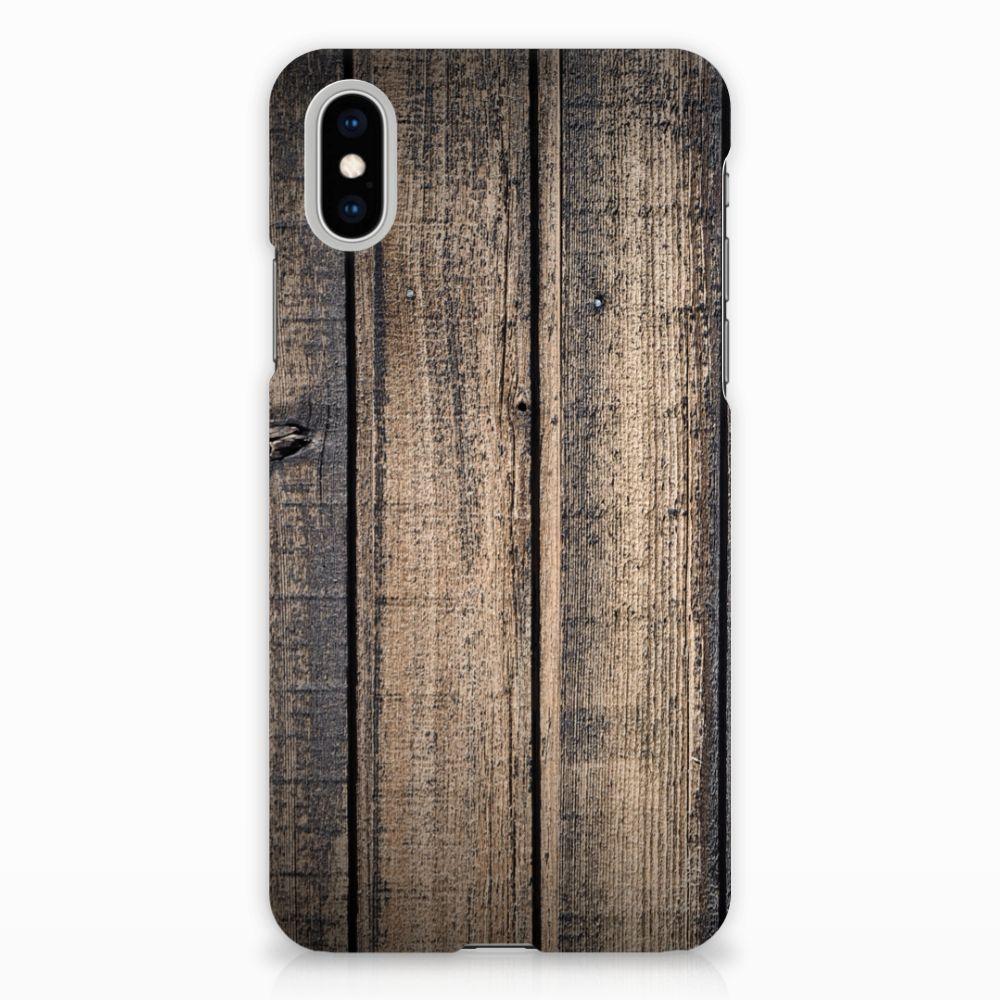 Apple iPhone X | Xs Hardcase Hoesje Design Steigerhout