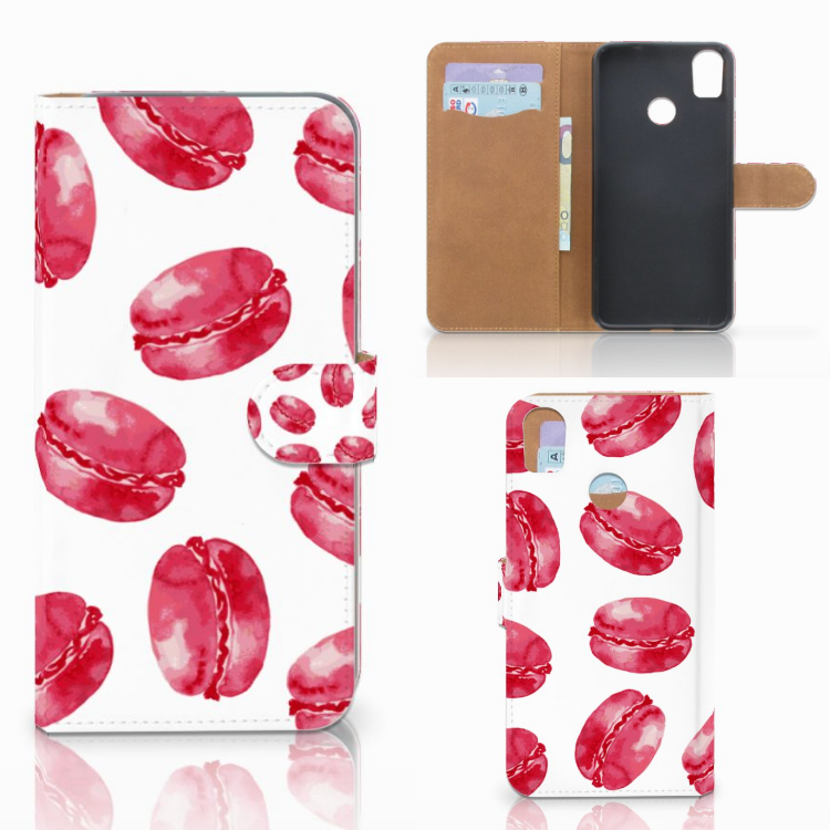 HTC Desire 10 Pro Book Cover Pink Macarons