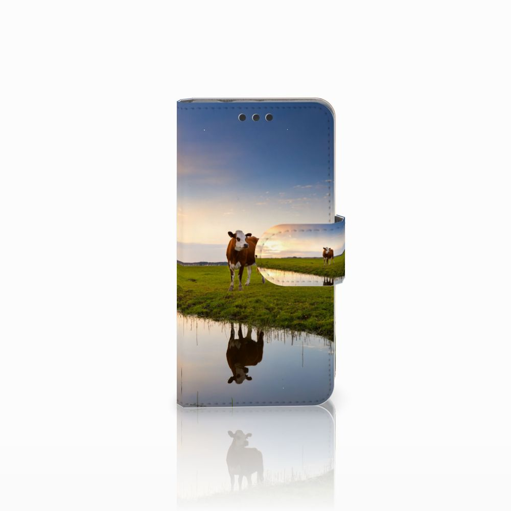 Sony Xperia Z3 Compact Telefoonhoesje met Pasjes Koe