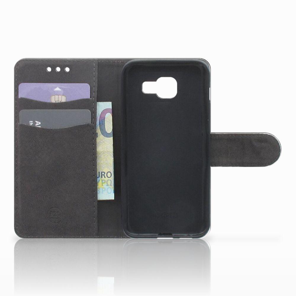Samsung Galaxy A3 2016 Telefoonhoesje met Pasjes Tijger