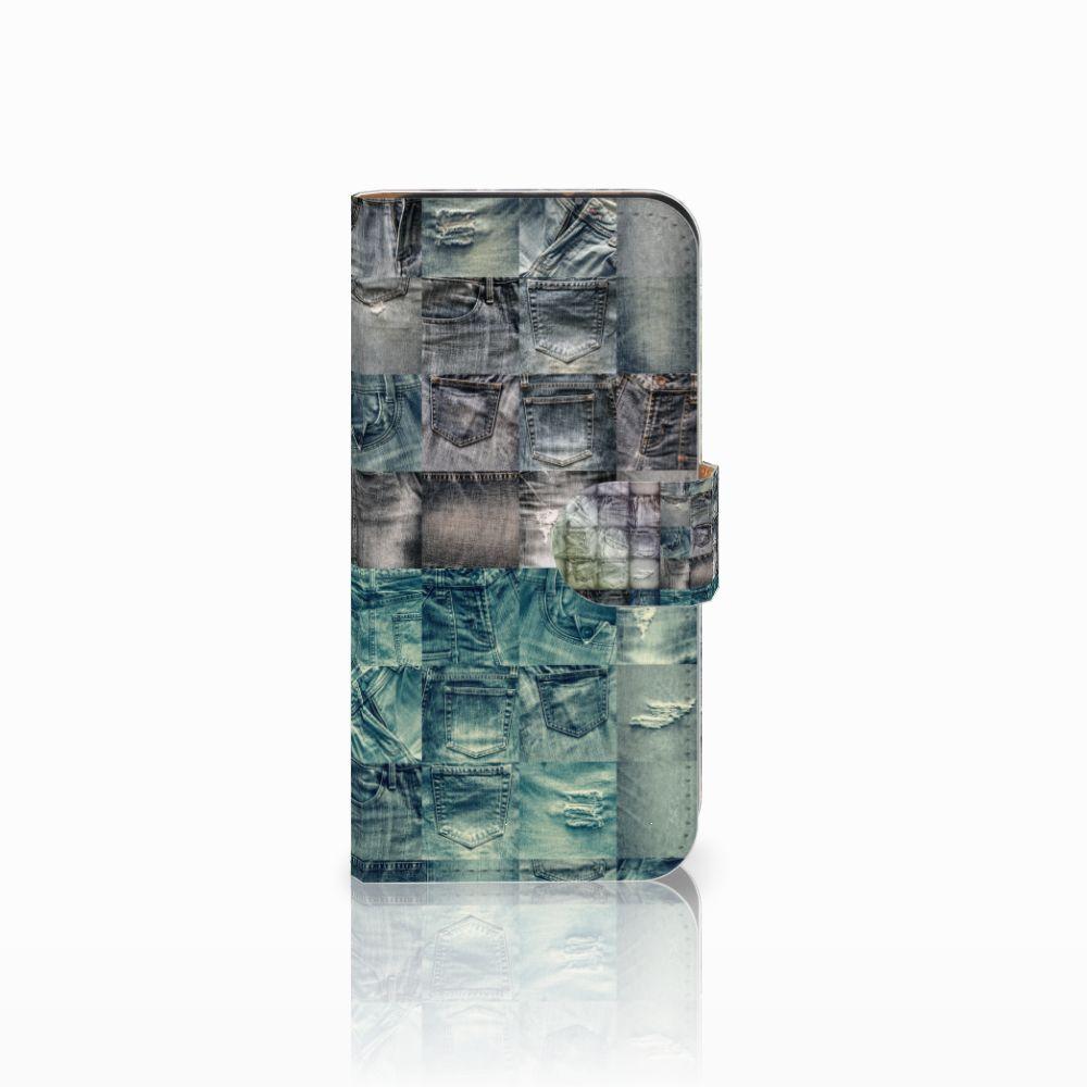 HTC One Mini 2 Uniek Boekhoesje Spijkerbroeken