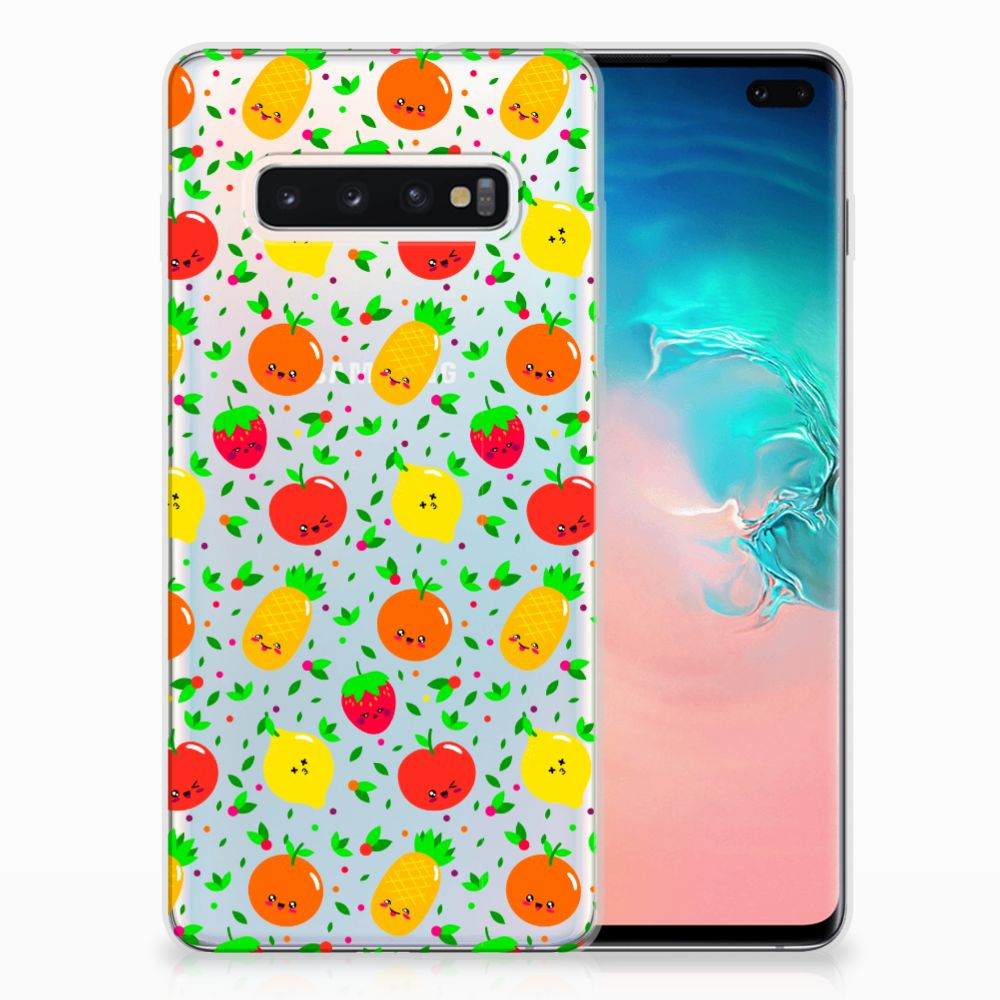 Samsung Galaxy S10 Plus Siliconen Case Fruits