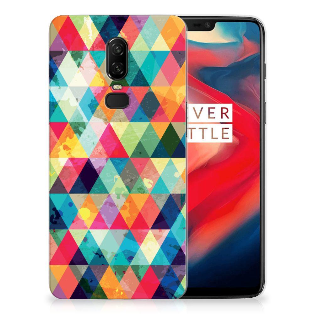 OnePlus 6 TPU bumper Geruit