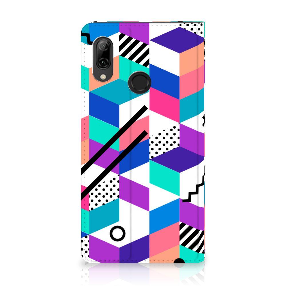 Huawei P Smart (2019) Stand Case Blokken Kleurrijk