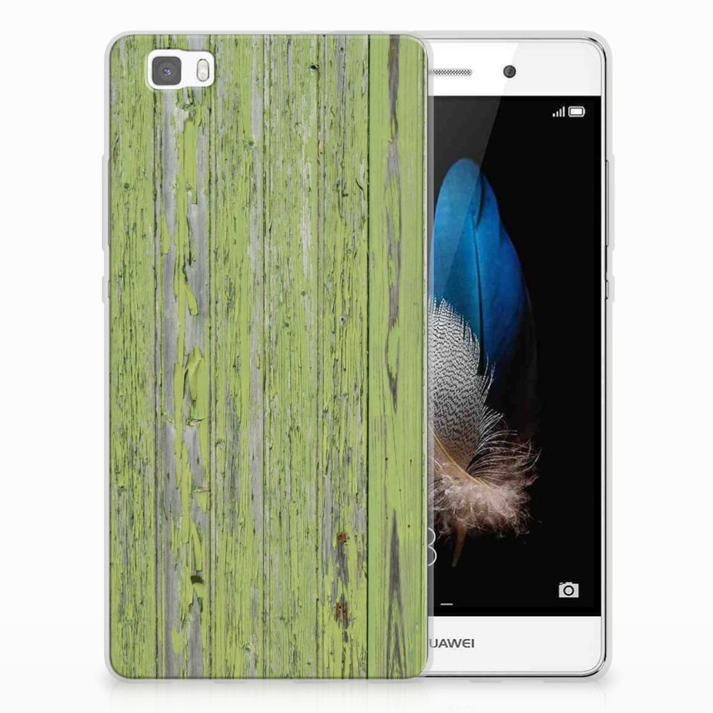 Huawei Ascend P8 Lite TPU Hoesje Design Green Wood