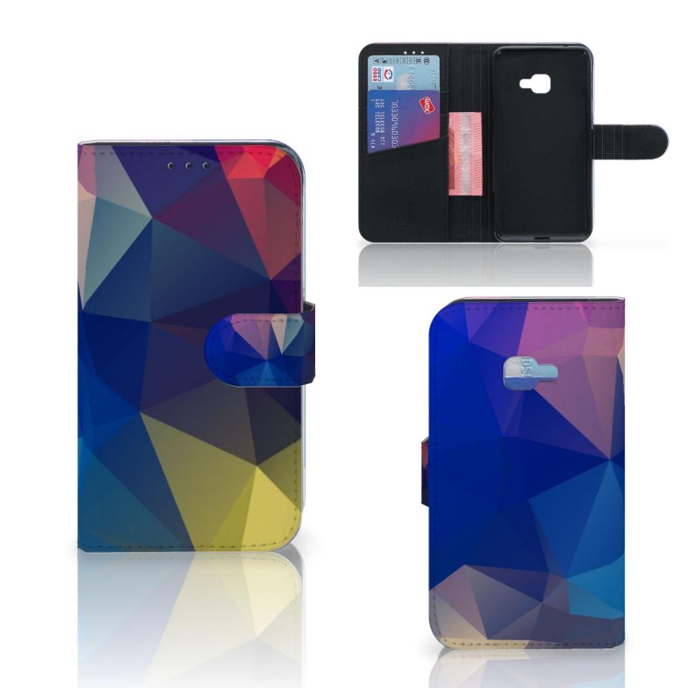 Samsung Galaxy Xcover 4 | Xcover 4s Bookcase Polygon Dark