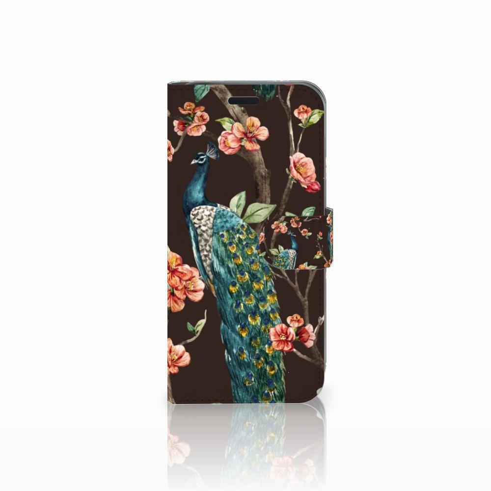 Acer Liquid Z630 | Z630s Boekhoesje Design Pauw met Bloemen