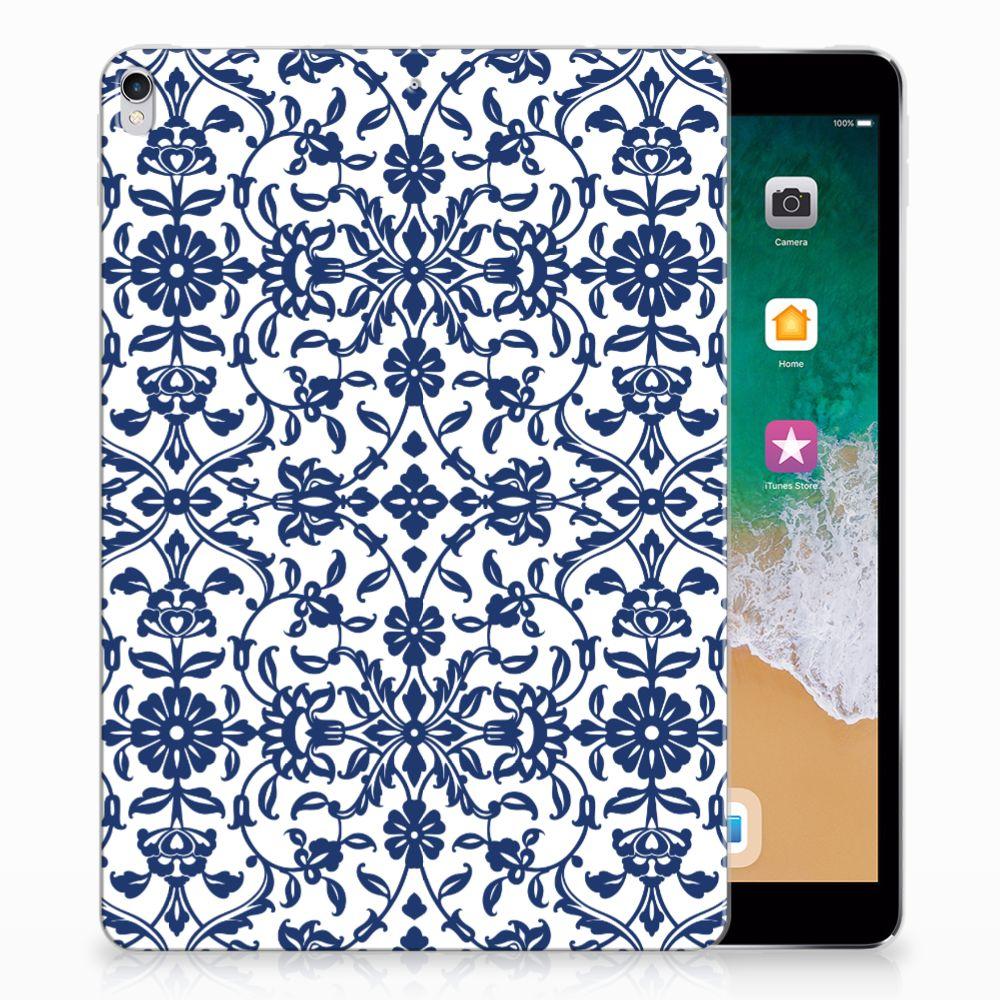 Apple iPad Pro 10.5 Tablethoesje Flower Blue