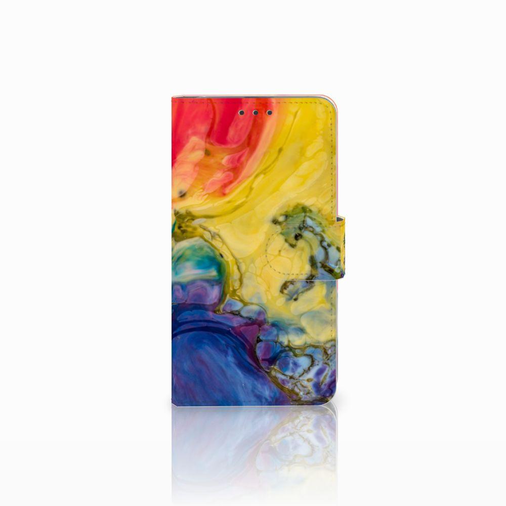 Microsoft Lumia 640 Uniek Boekhoesje Watercolor Dark