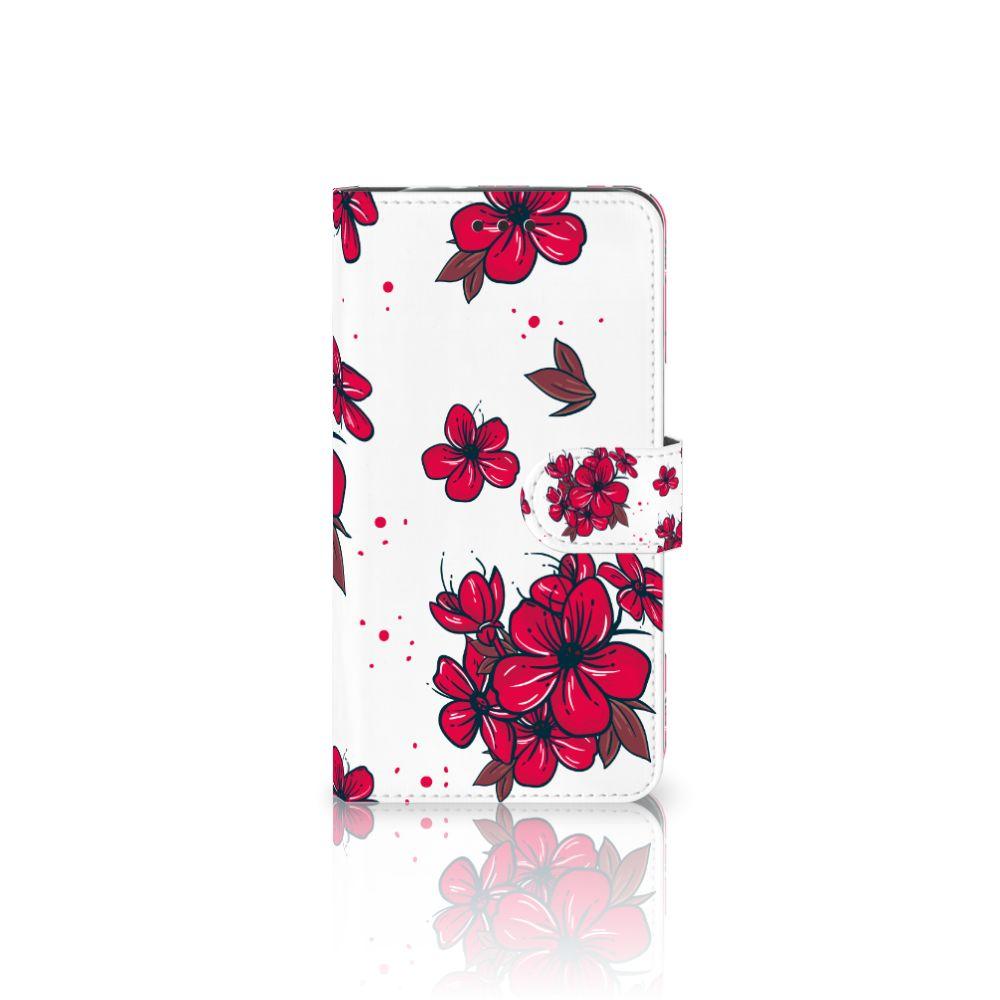 Motorola Moto Z2 Force Boekhoesje Design Blossom Red