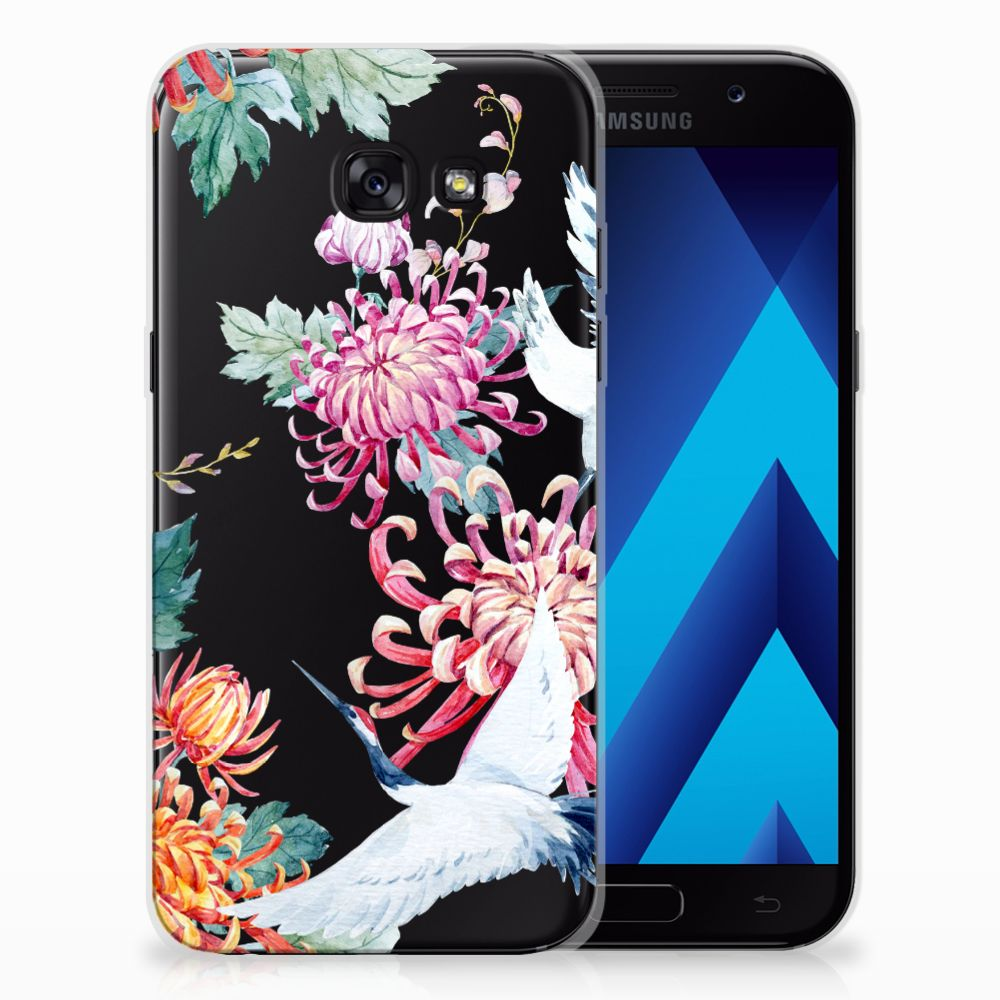 Samsung Galaxy A5 2017 TPU Hoesje Bird Flowers