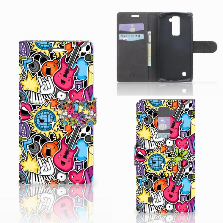 LG K10 2015 Wallet Case met Pasjes Punk Rock