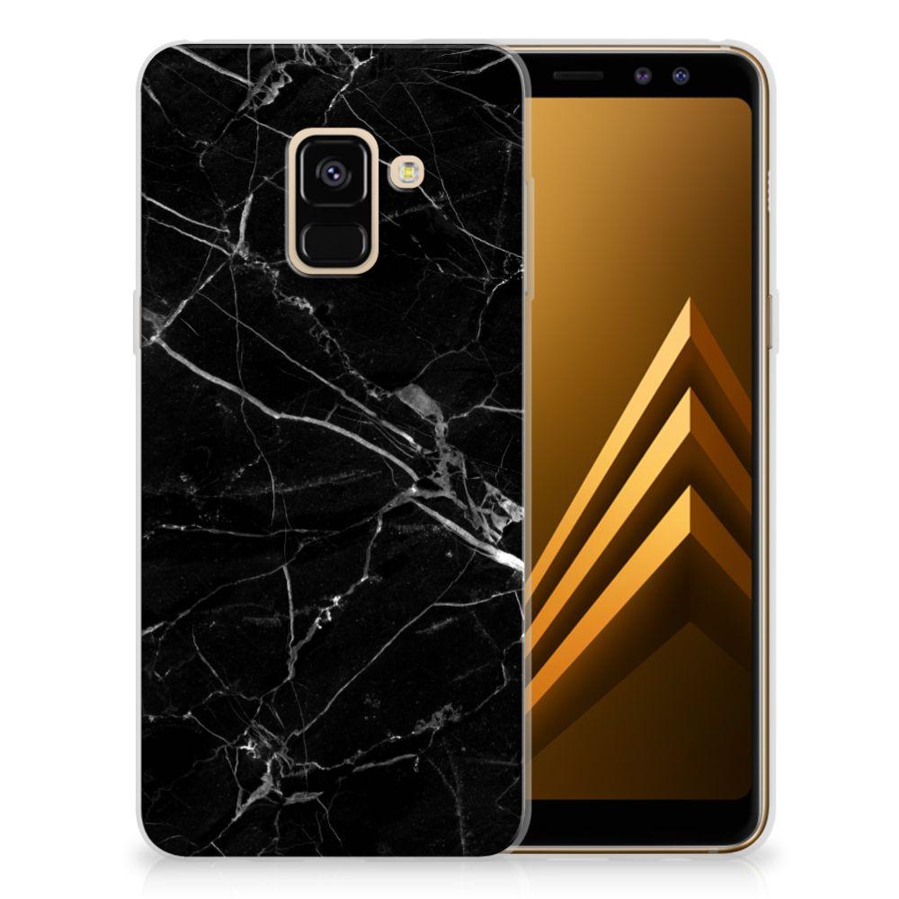 Samsung Galaxy A8 (2018) Uniek TPU Hoesje Marmer Zwart