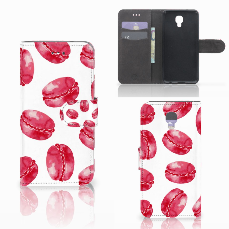 LG X Screen Book Cover Pink Macarons