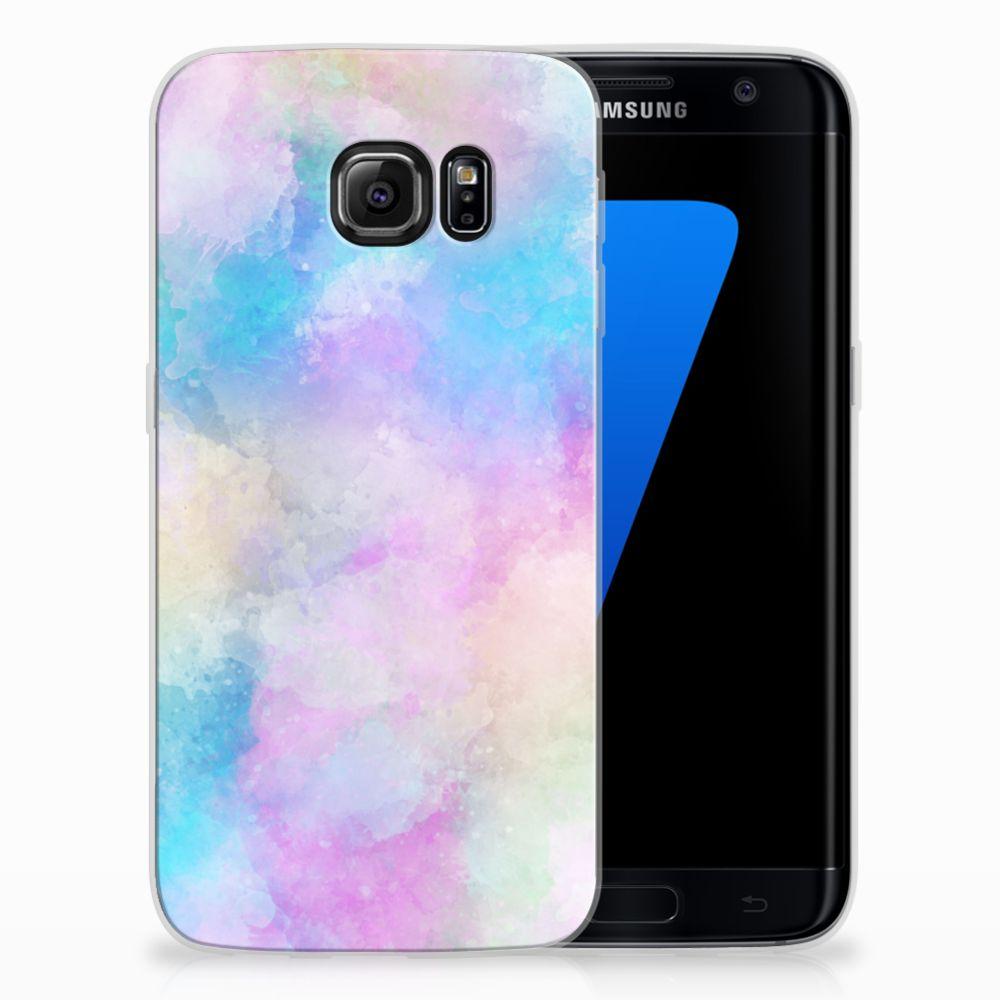 Samsung Galaxy S7 Edge Uniek TPU Hoesje Watercolor Light