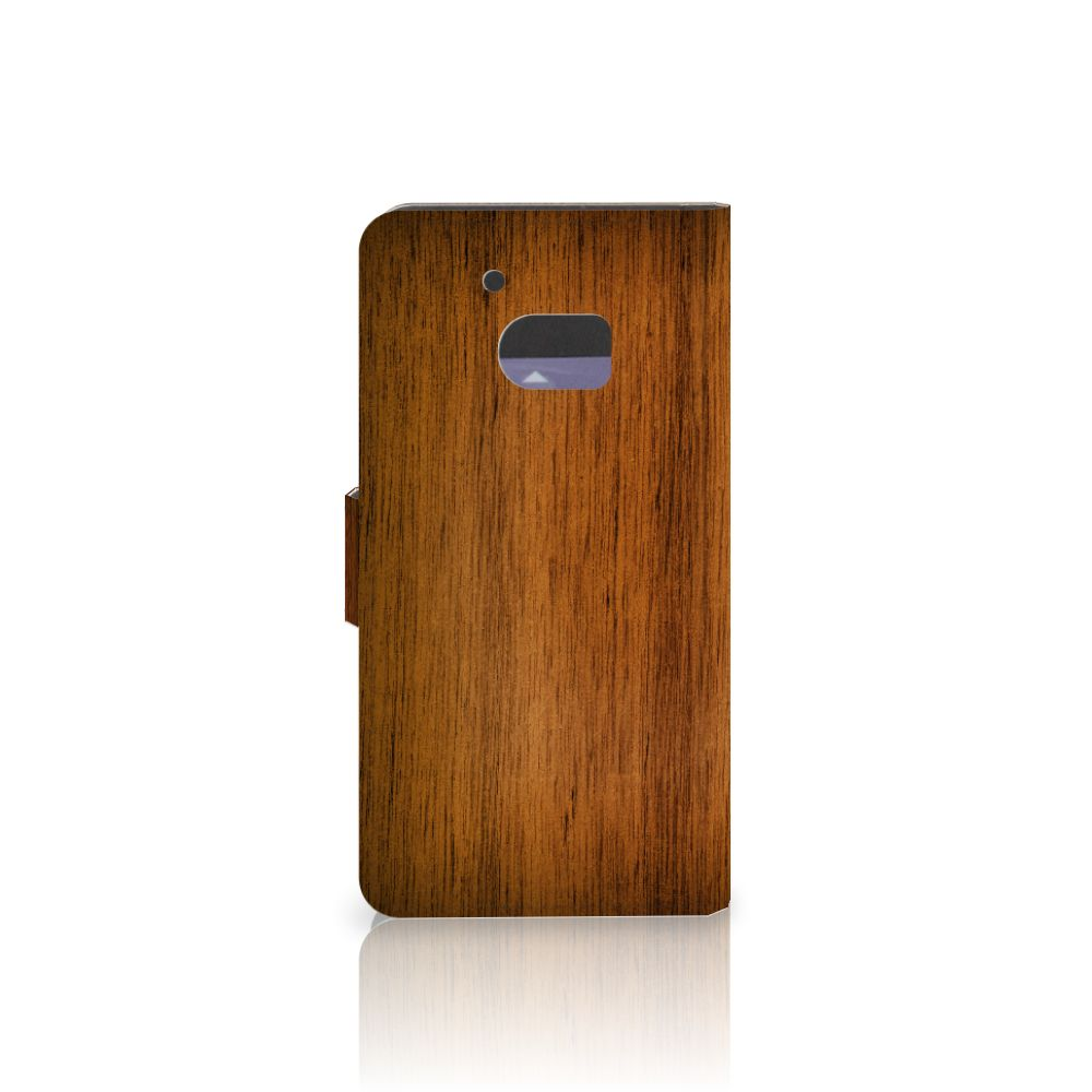 HTC 10 Book Style Case Donker Hout