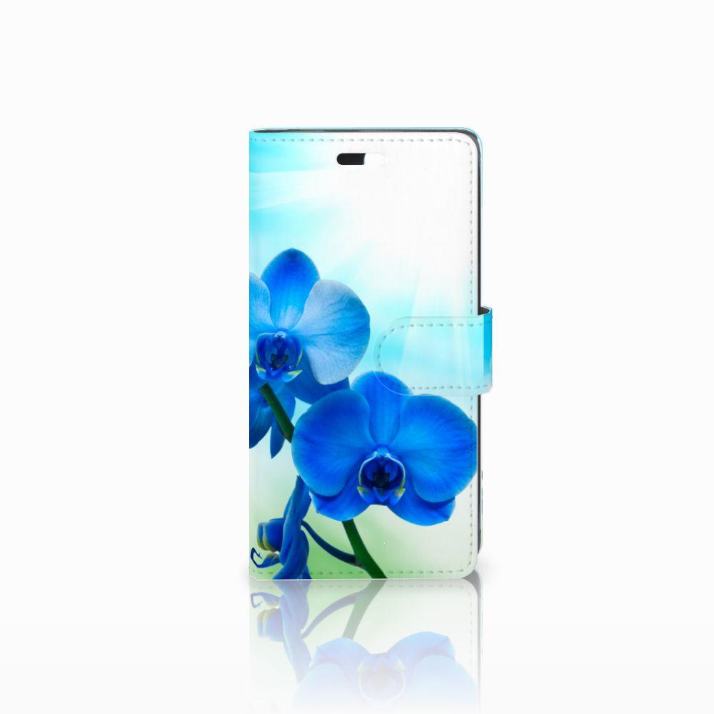 Huawei Y635 Boekhoesje Design Orchidee Blauw