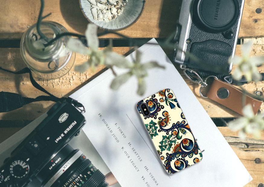 Apple iPhone X | Xs TPU Hoesje Design Barok Flower