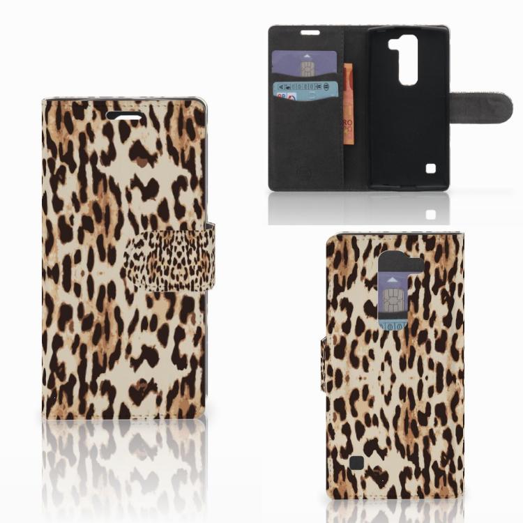 LG Spirit Telefoonhoesje met Pasjes Leopard