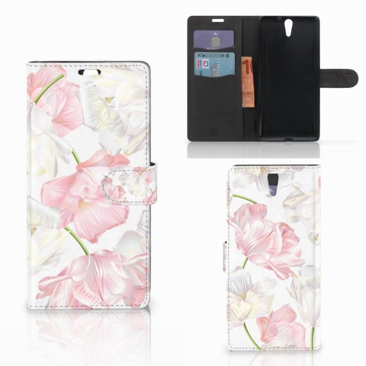 Sony Xperia C5 Ultra Hoesje Lovely Flowers