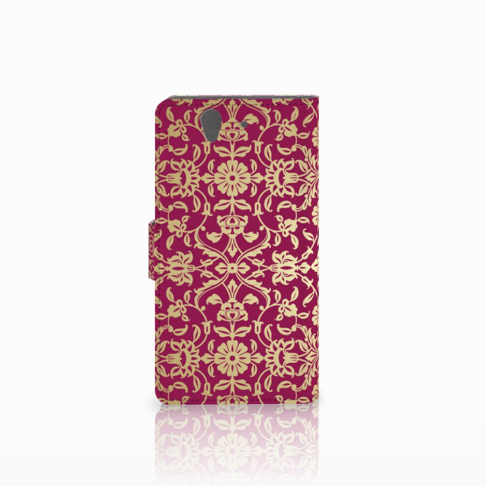 Wallet Case Sony Xperia Z Barok Pink