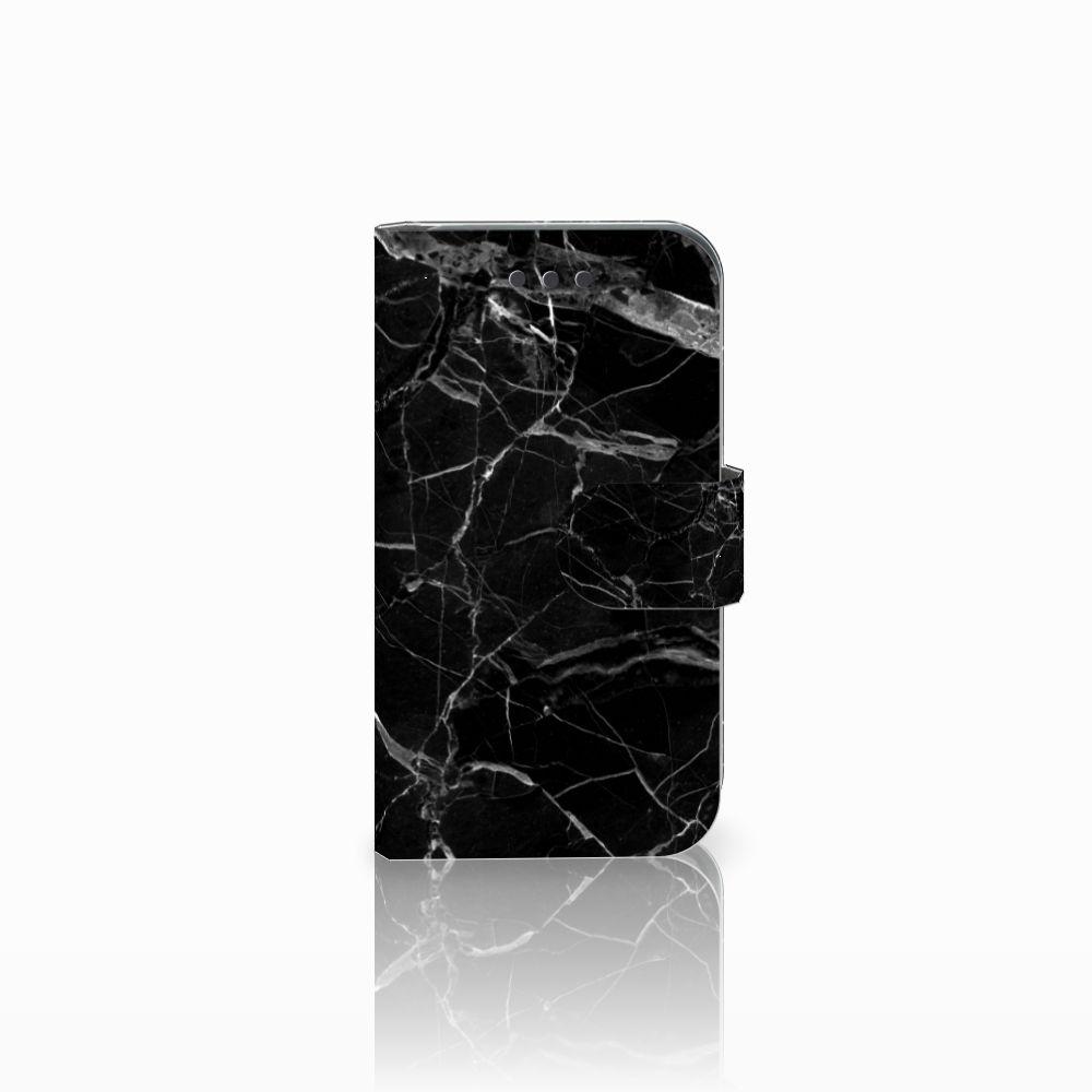Samsung Galaxy Core 2 Uniek Boekhoesje Marmer Zwart