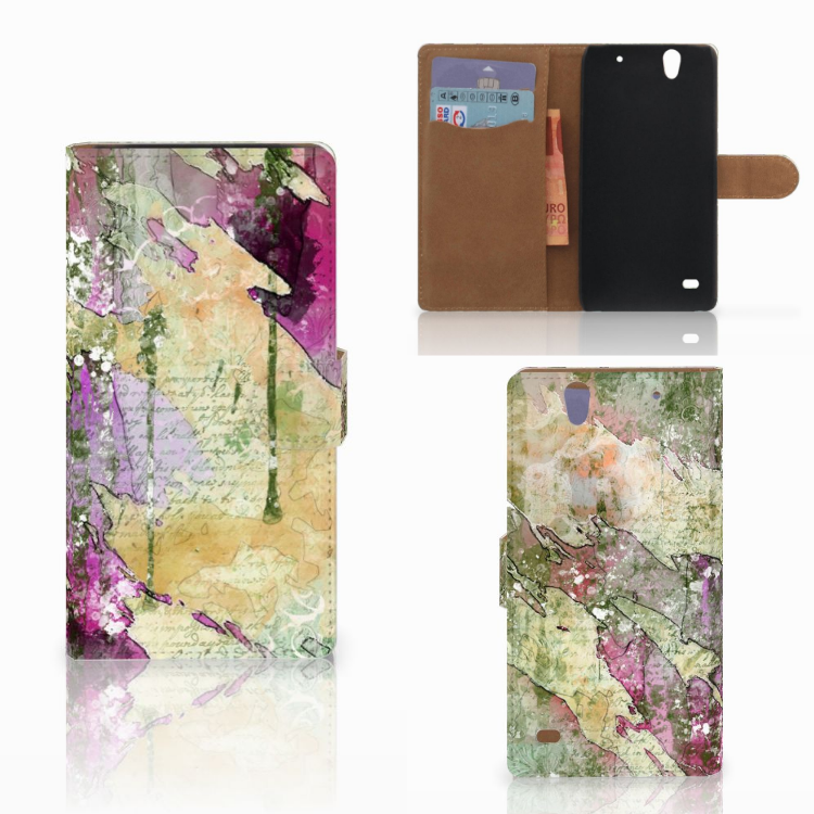 Hoesje Sony Xperia C4 Letter Painting