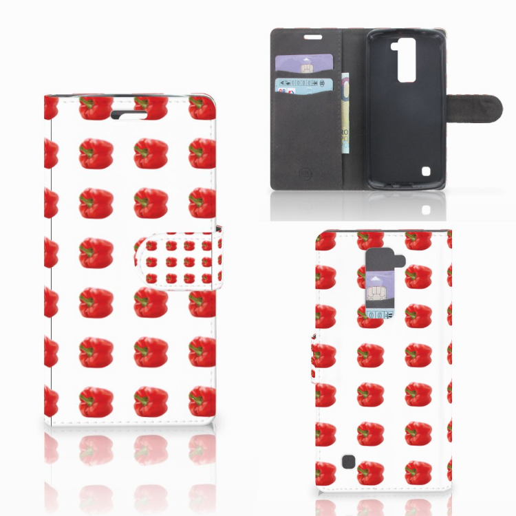 LG K10 2015 Book Cover Paprika Red