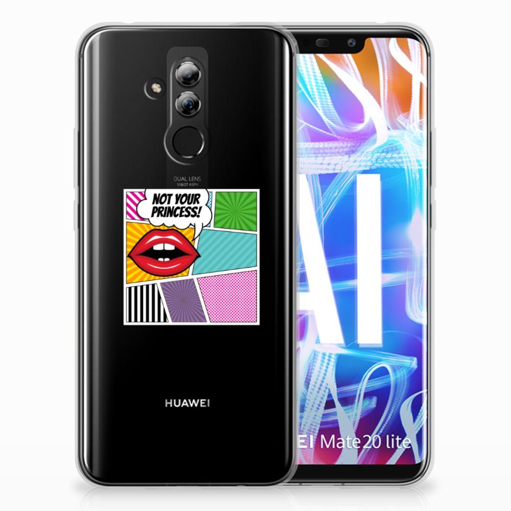 Huawei Mate 20 Lite Uniek TPU Hoesje Popart Princess