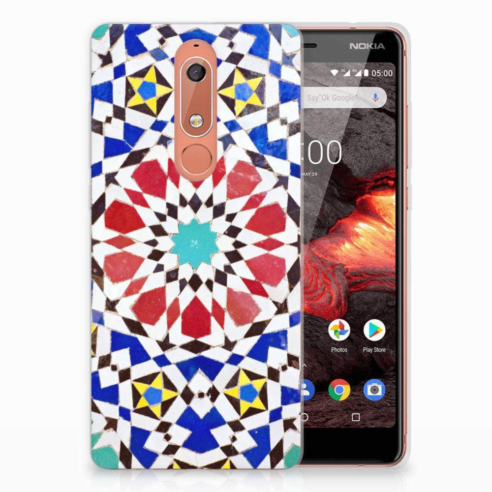 Nokia 5.1 (2018) TPU Siliconen Hoesje Mozaïek