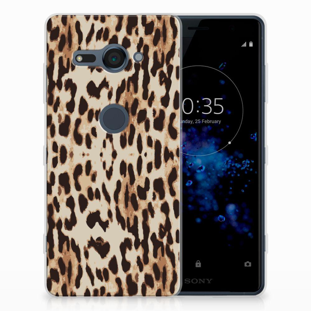 Sony Xperia XZ2 Compact TPU Hoesje Leopard