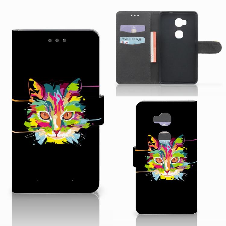 Huawei Honor 5X Leuke Hoesje Cat Color