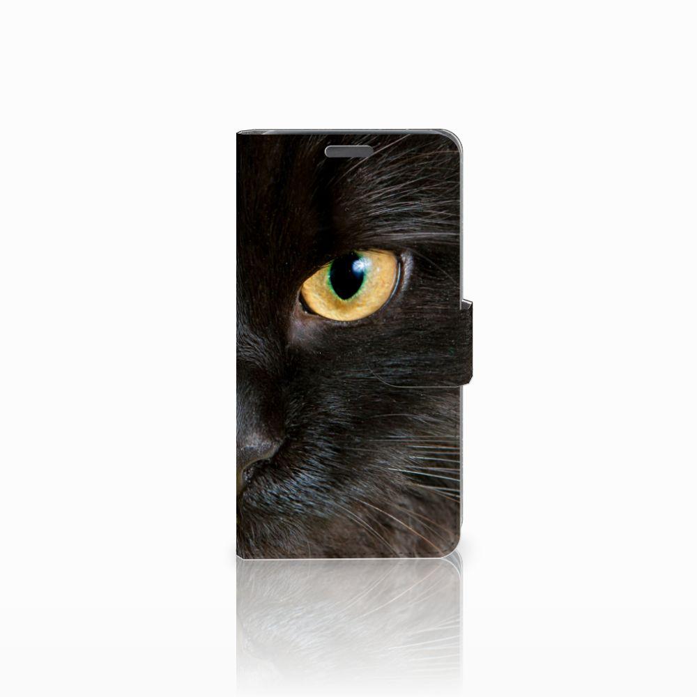 Wiko Lenny Uniek Boekhoesje Zwarte Kat